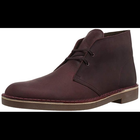 dd5c850c3ac Clarks Men's Bushacre 2 Chukka Boot, Wine Leather NWT